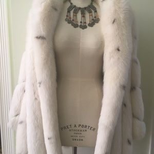saks custom made Jackets & Coats - Haute couture fox brand new coat new with dustbag